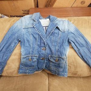 DKNY cropped jean jacket